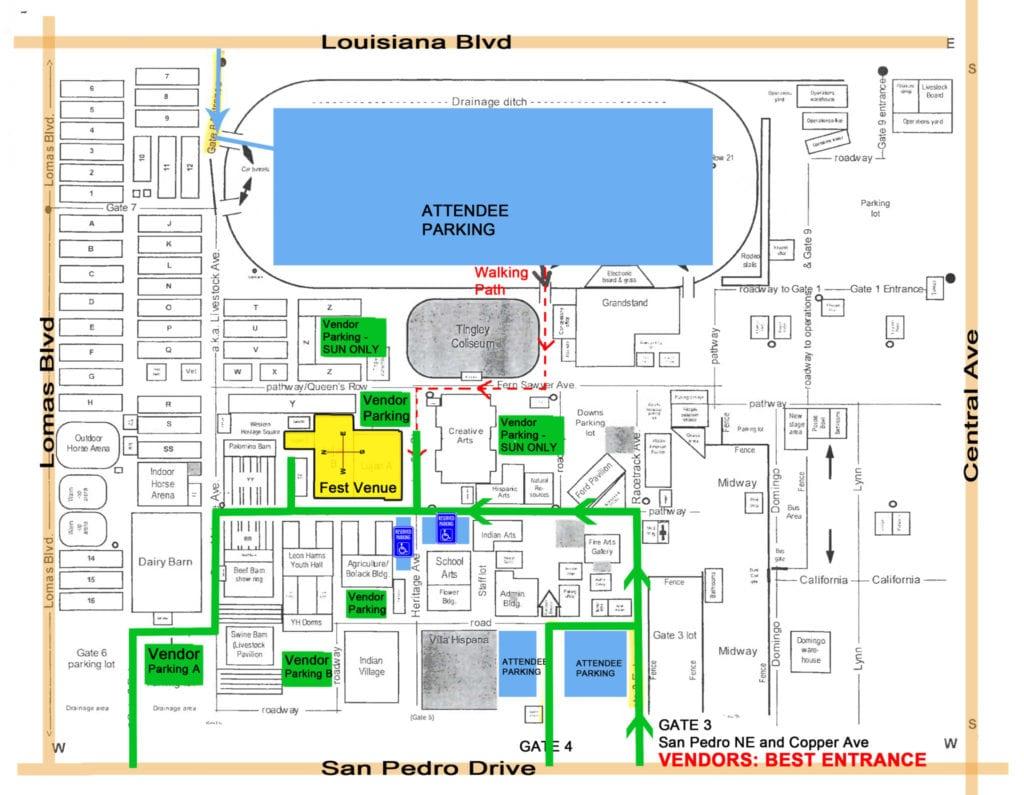 2017 Vendor EXPO NM Parking Map