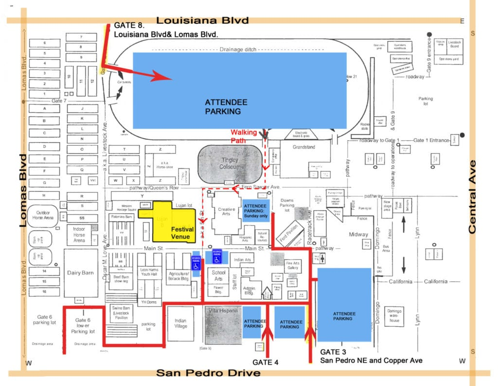 Attendee and Staff Parking_EXPO Parking Map